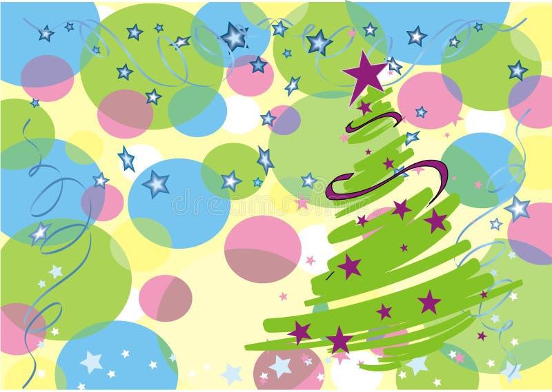 νέο έτος δέντρων του s ελεύθερη απεικόνιση δικαιώματος