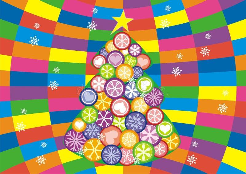 νέο έτος δέντρων του s απεικόνιση αποθεμάτων