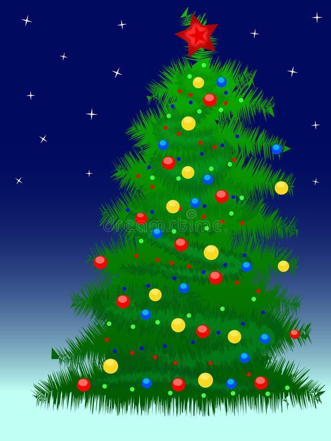 νέο έτος δέντρων στοκ φωτογραφία