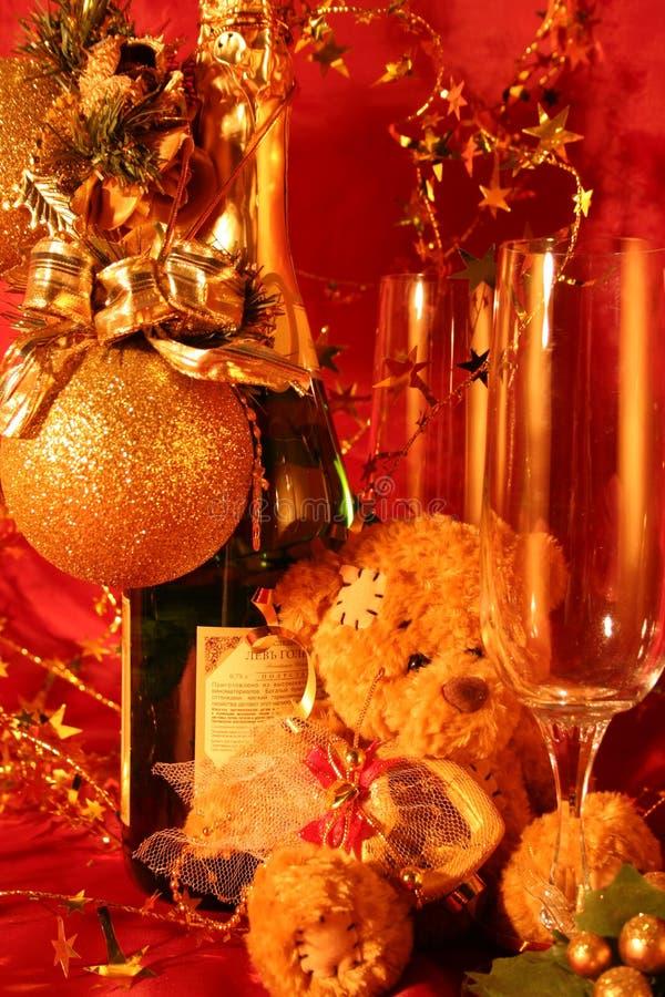 νέο έτος διακοπών καρτών στοκ εικόνα με δικαίωμα ελεύθερης χρήσης