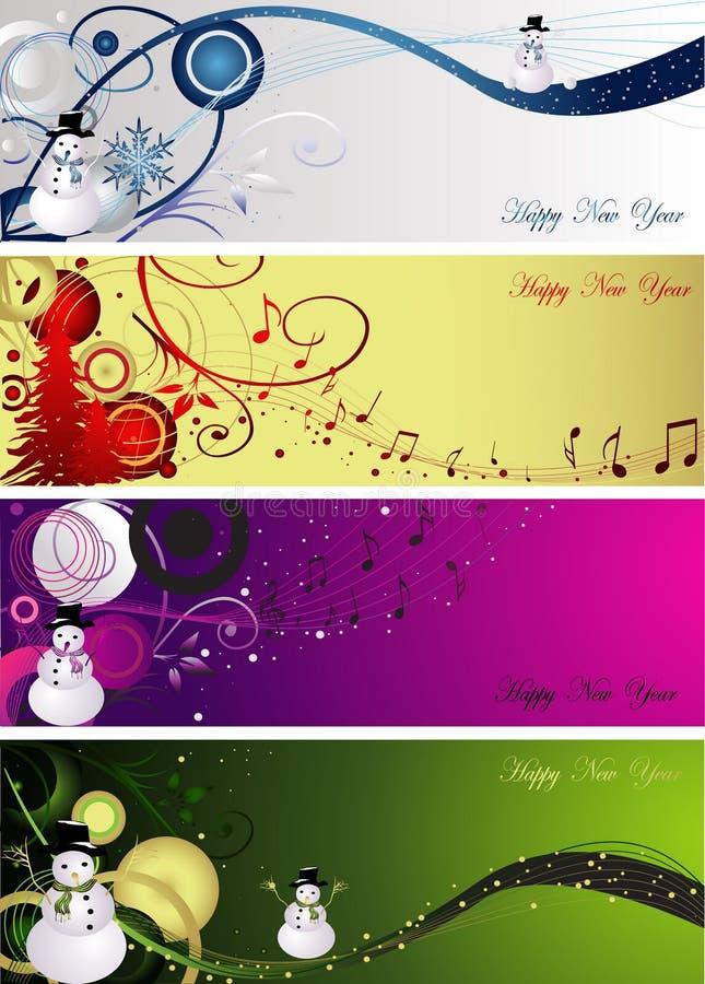νέο έτος διακοσμήσεων απεικόνιση αποθεμάτων