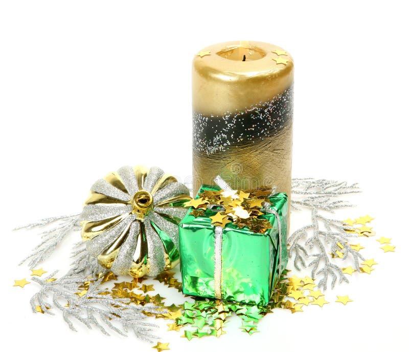 νέο έτος διακοσμήσεων s δώρ στοκ φωτογραφία