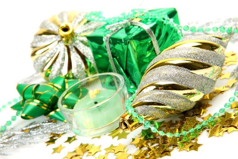 νέο έτος διακοσμήσεων s δώρ στοκ φωτογραφίες