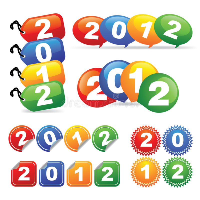 νέο έτος διακριτικών ελεύθερη απεικόνιση δικαιώματος