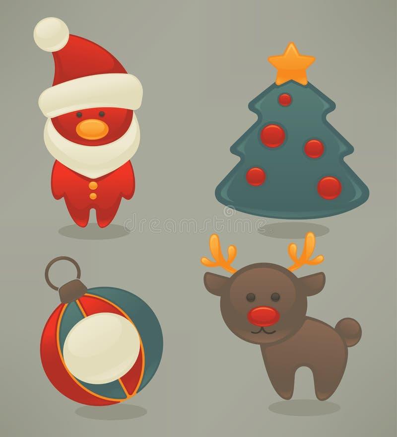 νέο έτος εικονιδίων Χριστ& απεικόνιση αποθεμάτων
