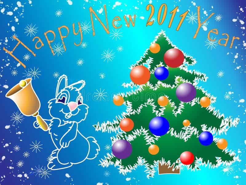Download νέο έτος εικόνας διανυσματική απεικόνιση. εικονογραφία από κάρτα - 17055907