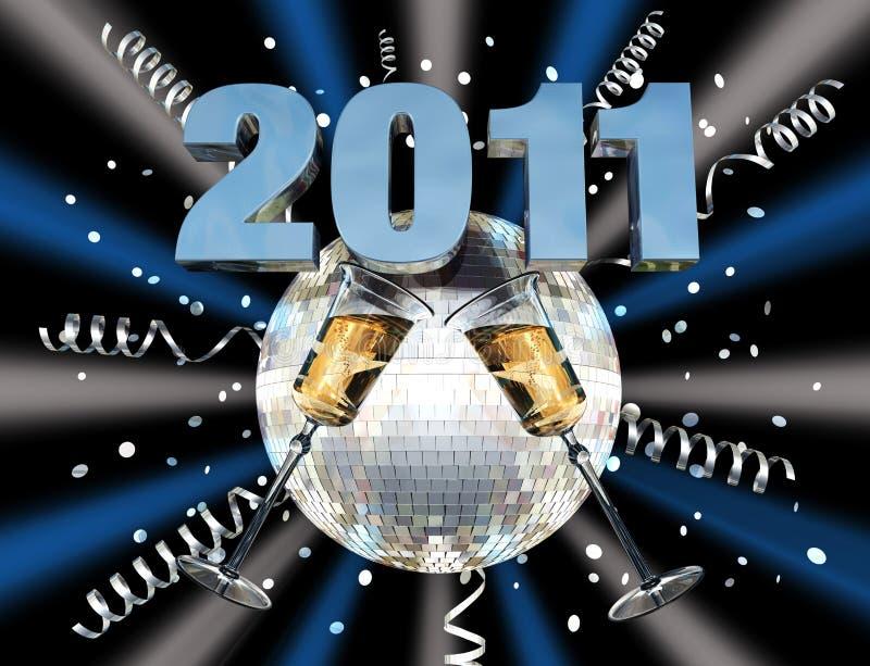 νέο έτος εορτασμού του 2011 στοκ φωτογραφίες