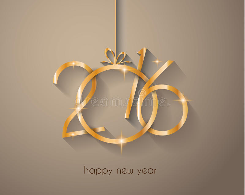 2016 νέο έτος και ευτυχές υπόβαθρο Χριστουγέννων ελεύθερη απεικόνιση δικαιώματος