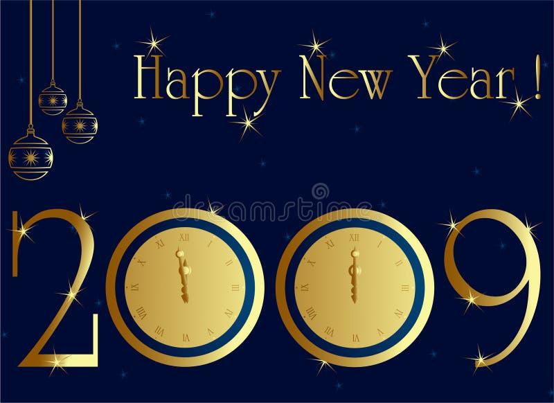 νέο έτος καρτών του 2009 ελεύθερη απεικόνιση δικαιώματος