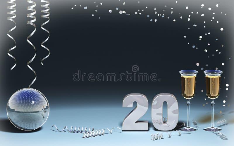 νέο έτος καρτών στοκ φωτογραφία