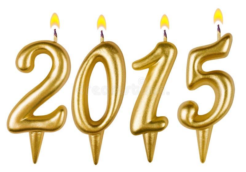 Νέο έτος 2015 κεριών στοκ εικόνα