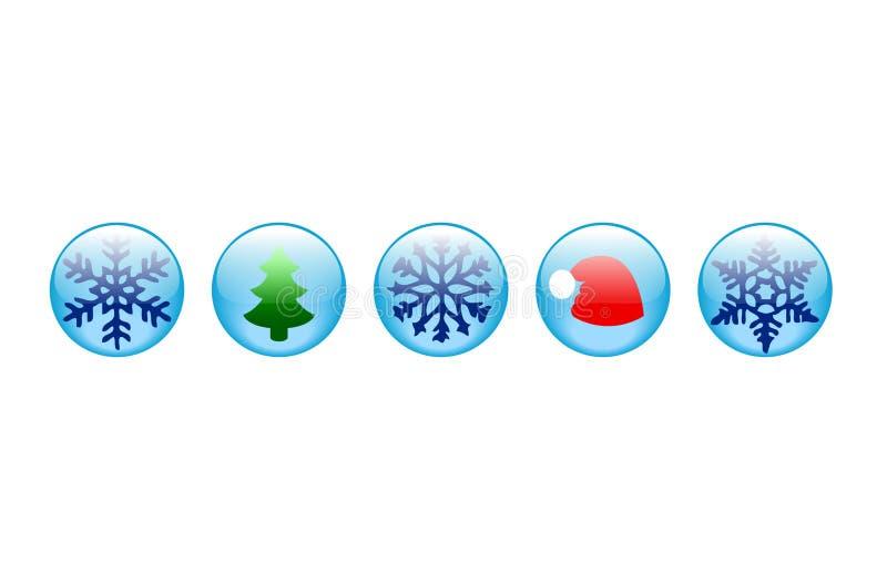 νέο έτος κουμπιών στοκ φωτογραφίες