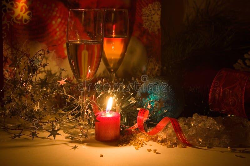 νέο έτος νύχτας σύνθεσης στοκ φωτογραφία