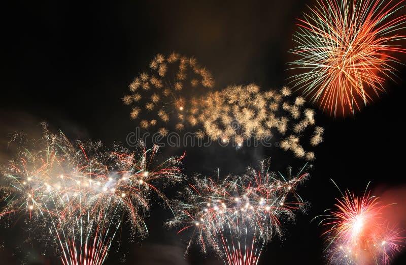 νέο έτος πυροτεχνημάτων στοκ εικόνες