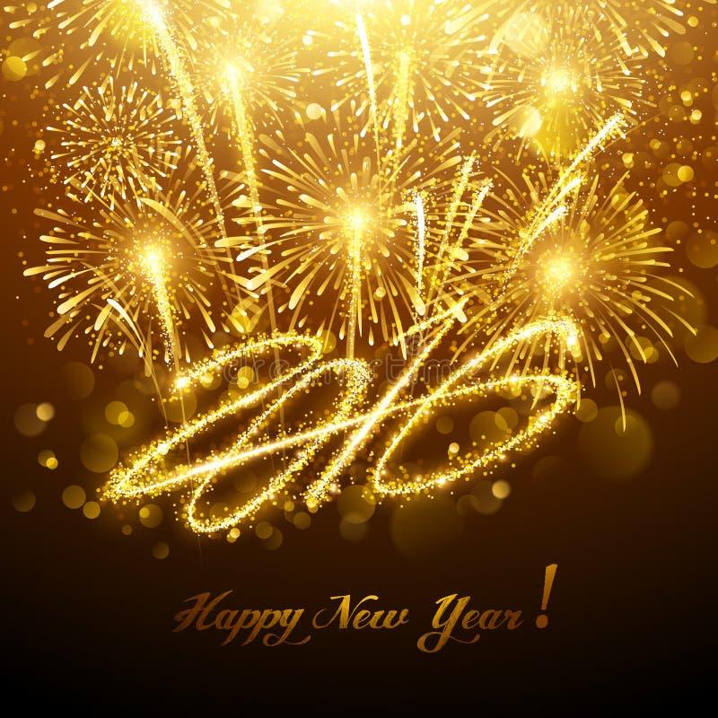 νέο έτος πυροτεχνημάτων ελεύθερη απεικόνιση δικαιώματος