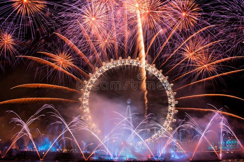 νέο έτος πυροτεχνημάτων στοκ φωτογραφία