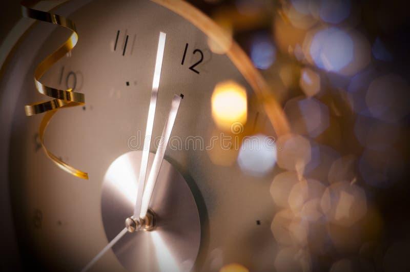 νέο έτος ρολογιών στοκ εικόνα