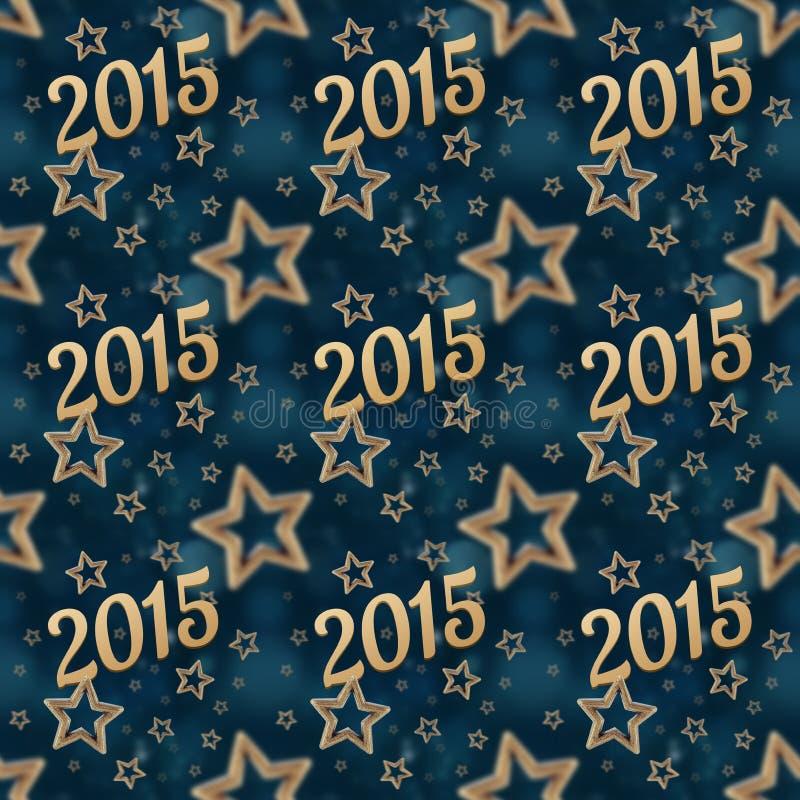Νέο έτος στο άνευ ραφής σχέδιο 2 αστεριών νύχτας στοκ εικόνες