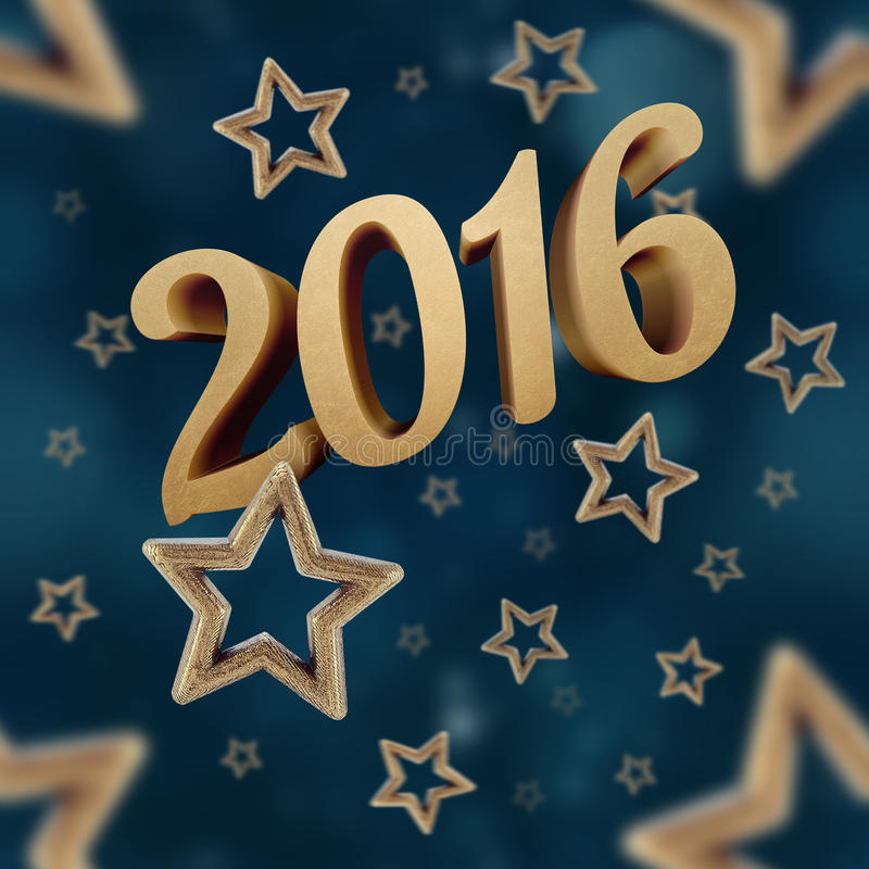 Νέο έτος στο άνευ ραφής σχέδιο 3 αστεριών νύχτας στοκ φωτογραφία