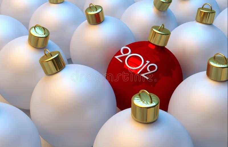 νέο έτος σφαιρών απεικόνιση αποθεμάτων