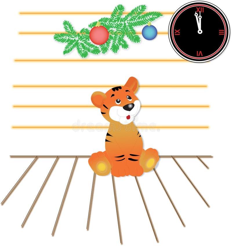 νέο έτος τιγρών προσδοκία&sigma στοκ εικόνα
