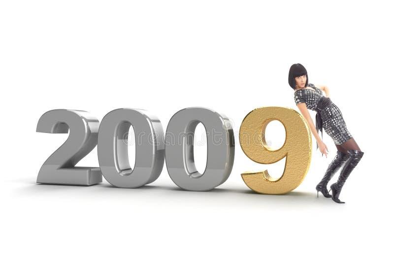 νέο έτος του 2009 διανυσματική απεικόνιση