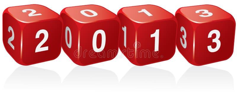 νέο έτος του 2013 ελεύθερη απεικόνιση δικαιώματος