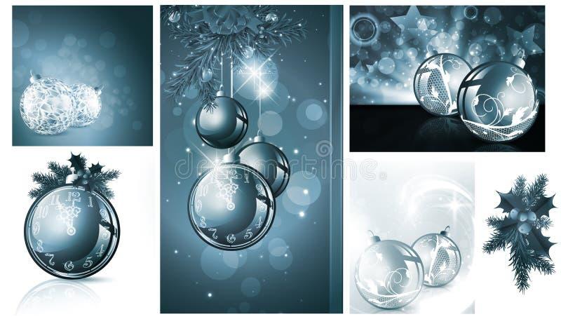 νέο έτος Χριστουγέννων αν&alpha ελεύθερη απεικόνιση δικαιώματος
