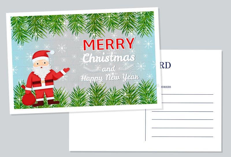 νέο έτος Χριστουγέννων καρτών διανυσματική απεικόνιση