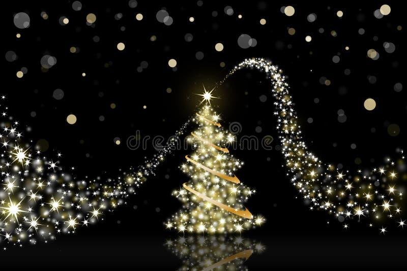 Νέο έτος χριστουγεννιάτικων δέντρων διανυσματική απεικόνιση
