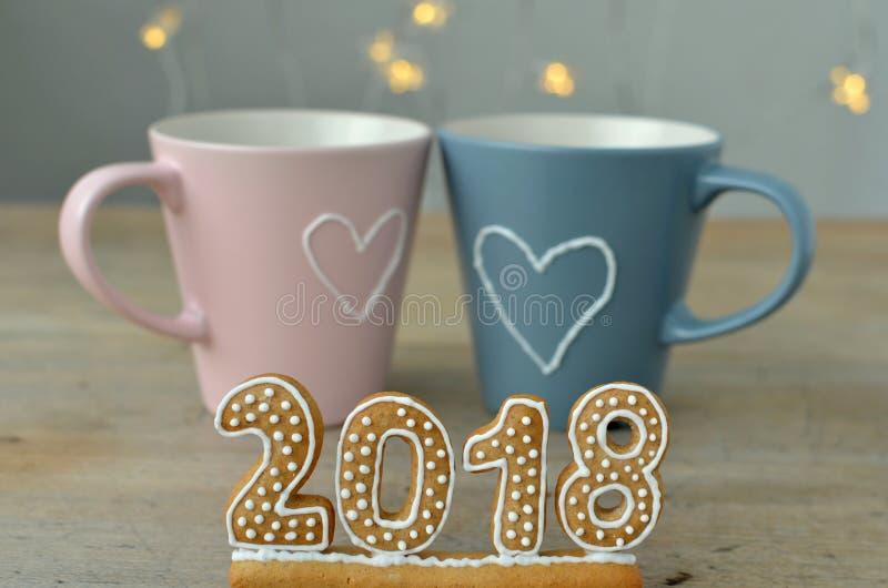 Νέο έτος 2018 στοκ φωτογραφία