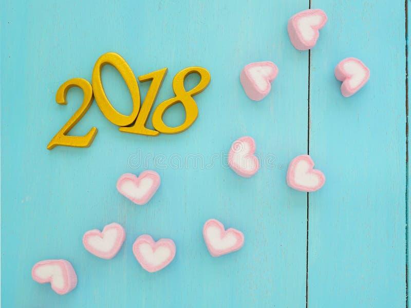 Νέο έτος 2018 στοκ φωτογραφίες