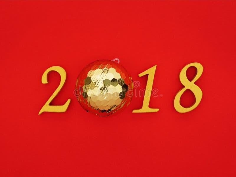 Νέο έτος 2018 στοκ εικόνες με δικαίωμα ελεύθερης χρήσης