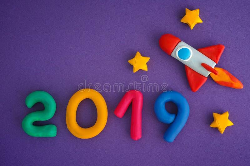 2019 νέο έτος στοκ εικόνα με δικαίωμα ελεύθερης χρήσης