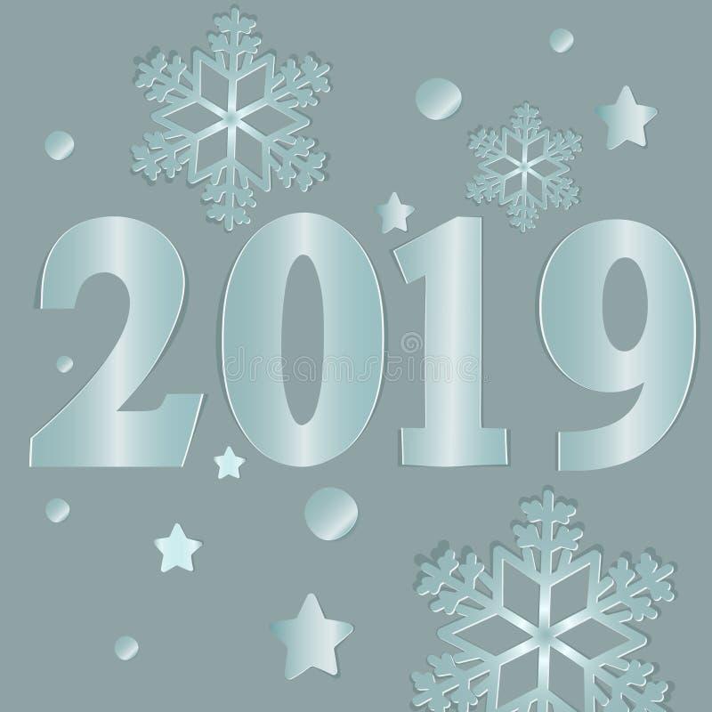 2019 νέο έτος ελεύθερη απεικόνιση δικαιώματος
