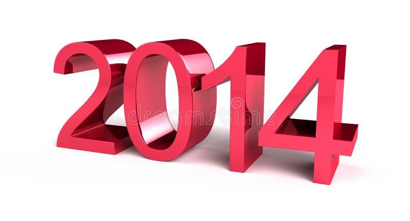 Νέο έτος 2014 στοκ φωτογραφία με δικαίωμα ελεύθερης χρήσης