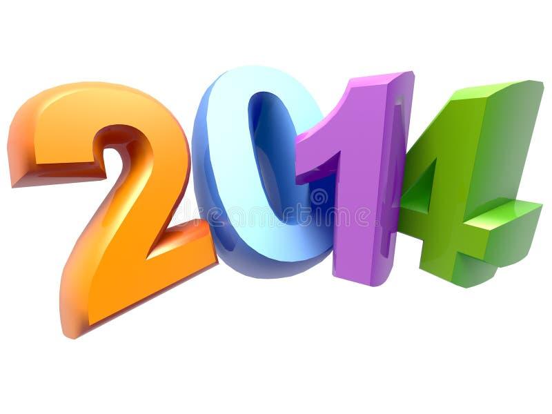 Νέο έτος 2014 ελεύθερη απεικόνιση δικαιώματος