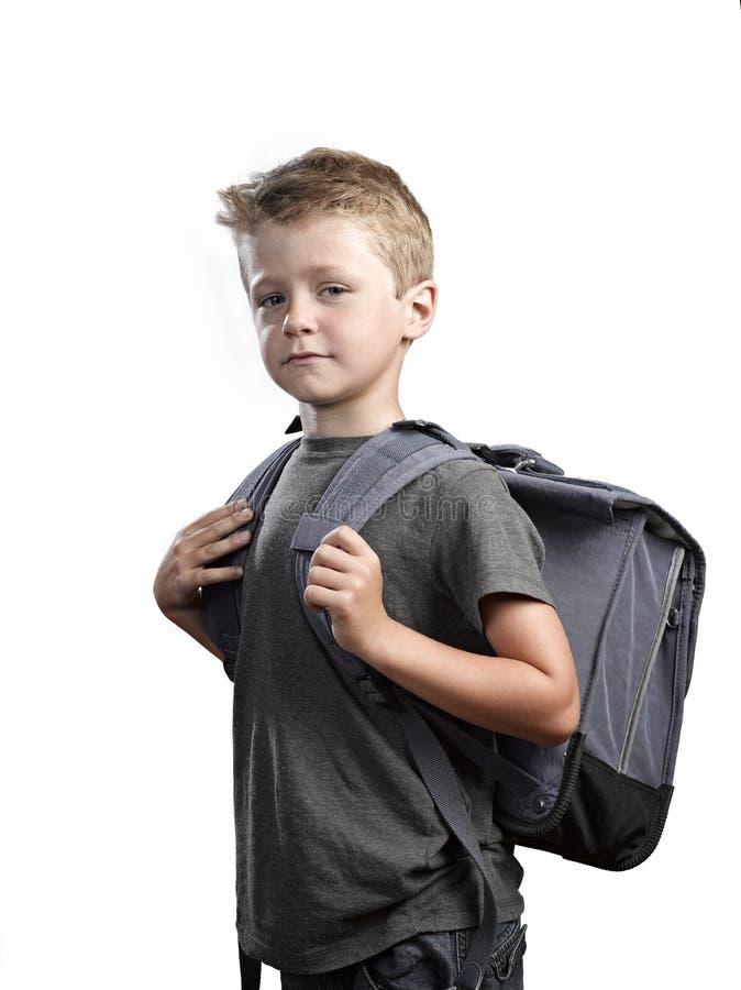 Νέο αγόρι με backpack στοκ φωτογραφία