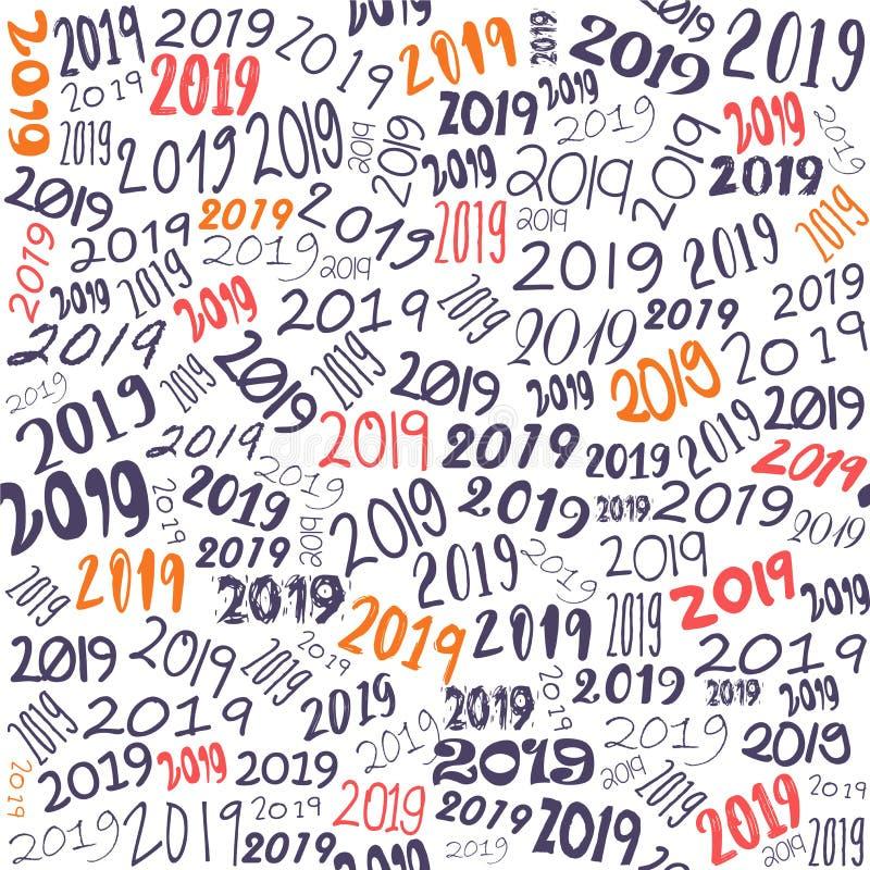Νέο απόθεμα σχεδίου σχεδίων έτους 2019 απεικόνιση αποθεμάτων
