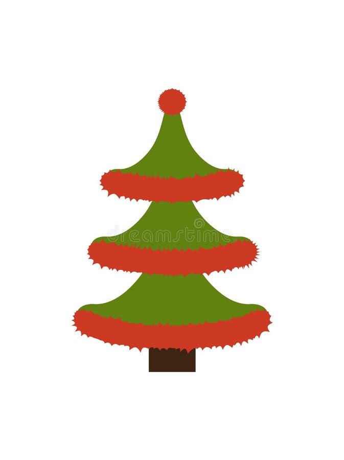 Νέο δέντρο ετών φιαγμένο από Tinsel διανυσματική απεικόνιση διανυσματική απεικόνιση
