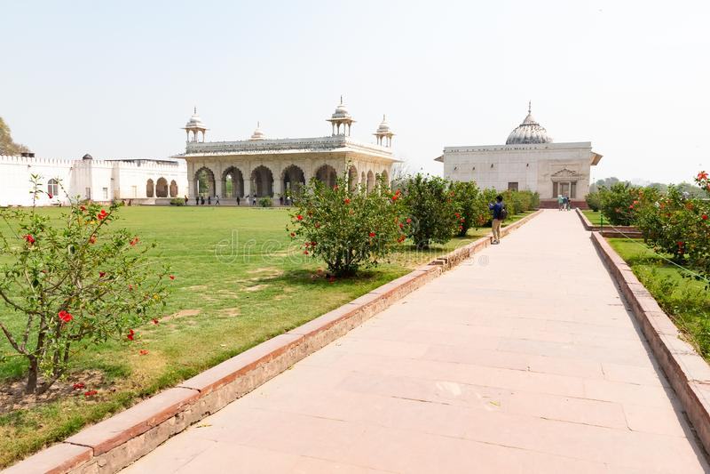 """Νέο Δελχί, Ινδία, στις 30 Μαρτίου 2019 - Ï""""Î¿ περίπτερο Zafar Mahal στον κήπο Hayat Bakh στοκ φωτογραφίες με δικαίωμα ελεύθερης χρήσης"""