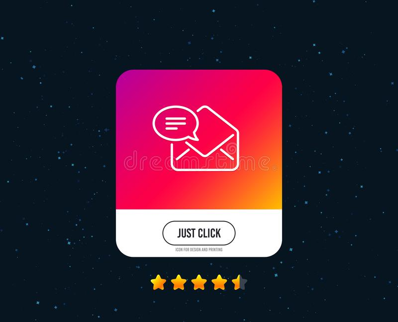 Νέο εικονίδιο γραμμών ταχυδρομείου Σημάδι αλληλογραφίας μηνυμάτων διάνυσμα διανυσματική απεικόνιση