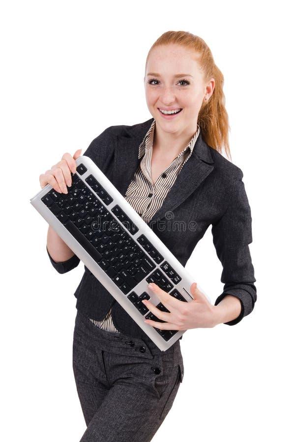 Νέο επιτυχές θηλυκό εργαζομένων γραφείων στοκ εικόνες