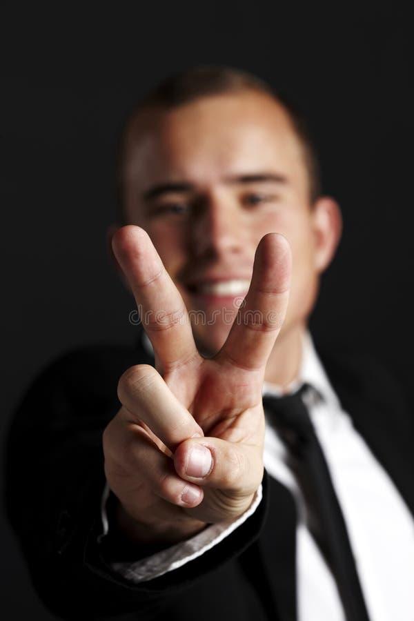 Νέο επιχειρησιακό άτομο στο Μαύρο στοκ φωτογραφία