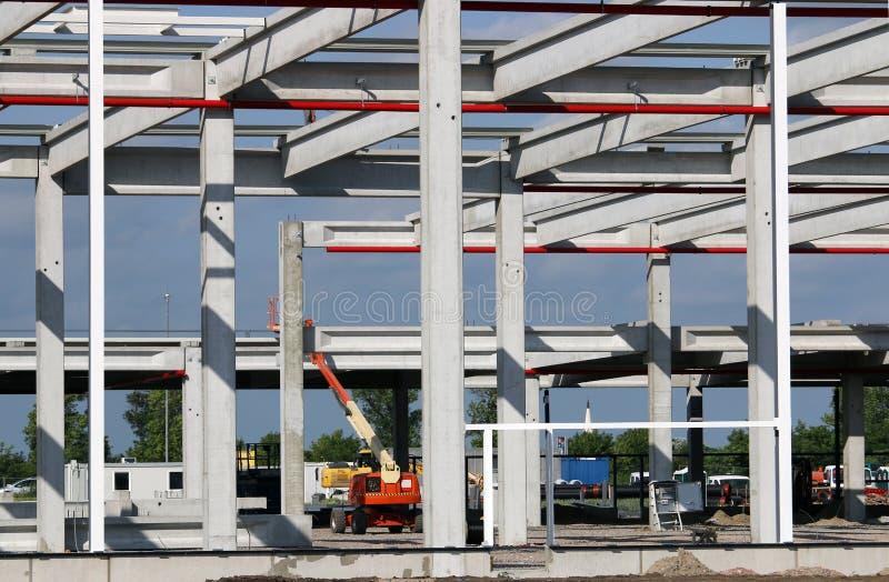 Νέο εργοτάξιο οικοδομής εργοστασίων στοκ εικόνα