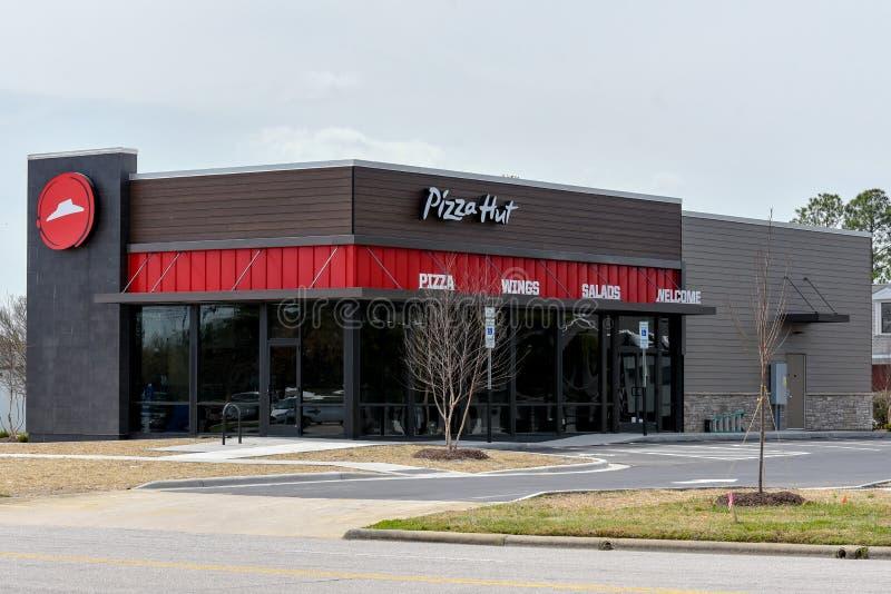 Νέο εστιατόριο της Pizza Hut στοκ εικόνες με δικαίωμα ελεύθερης χρήσης