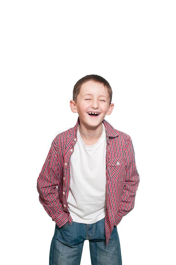 Νέο ευτυχές αγόρι στοκ εικόνες