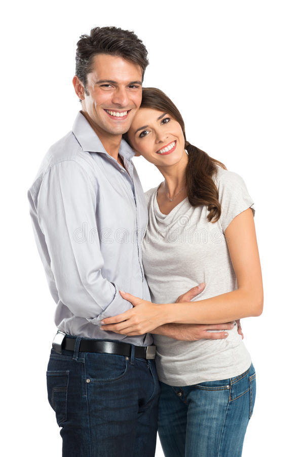 Νέο ζεύγος ερωτευμένο στοκ εικόνα