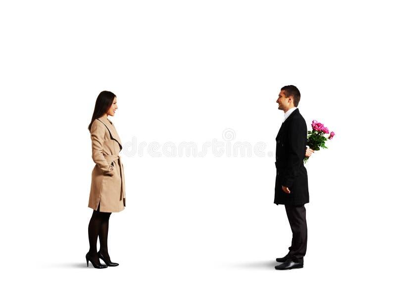 Νέο ζεύγος κατά την ημερομηνία στοκ φωτογραφία