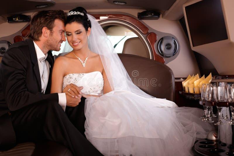Νέο ζεύγος την γάμος-ημέρα στοκ εικόνες